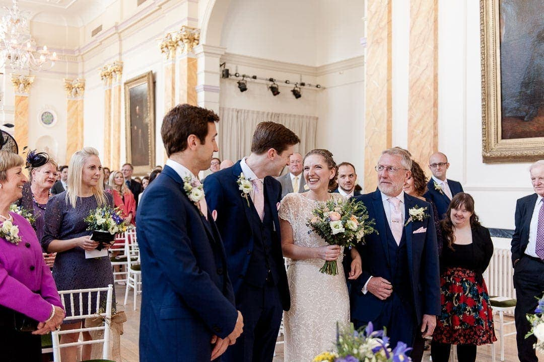 Civil wedding ceremony at the Royal Pump Rooms