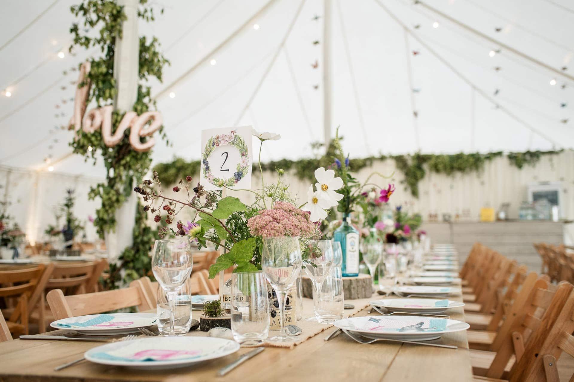 DIY Marquee Wedding Photography