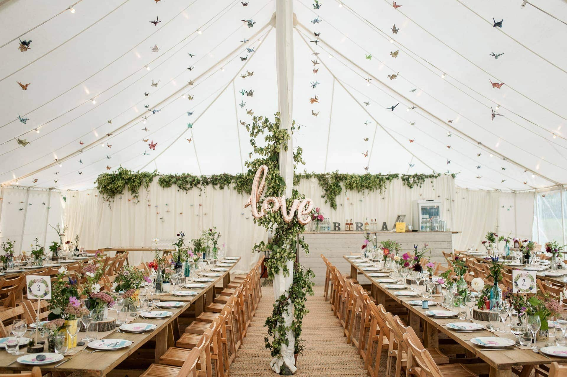 DIY Marquee Wedding Photography