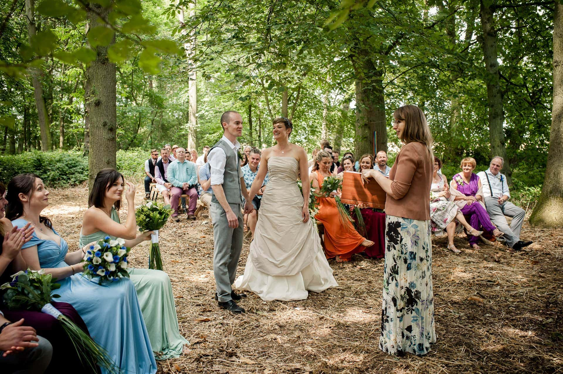 Humanist Wedding at Wildwood Bluebell
